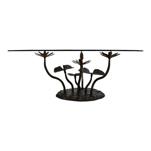 Stylish Mid-Century Modern Lotus Coffee Table For Sale