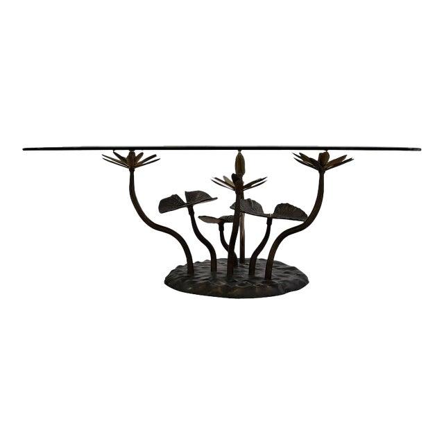 Stylish Mid-Century Modern Lotus Coffee Table - Image 1 of 11