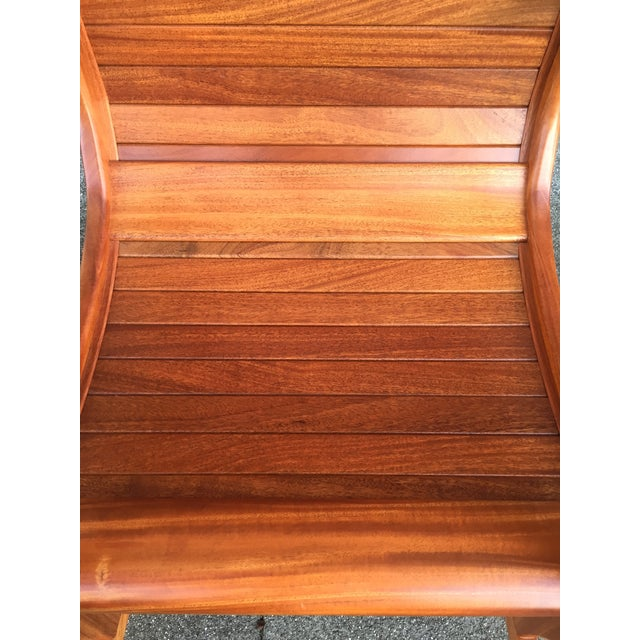 Solid Cherry Wood Rocking Chair For Sale - Image 5 of 11