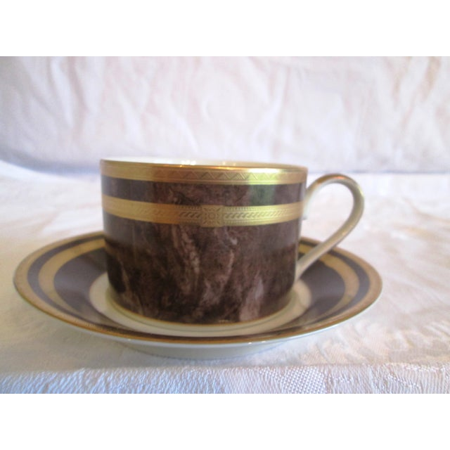 Ceramic Mikasa Mahogany Florentine Luncheon Set - 18 Pieces For Sale - Image 7 of 9