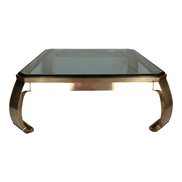 Karl Springer Brass Coffee Table - Image 1 of 7