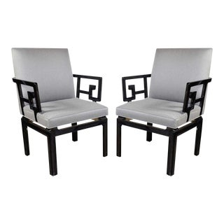 Pair of Stunning Michael Taylor Far East Baker Occasional Chairs For Sale