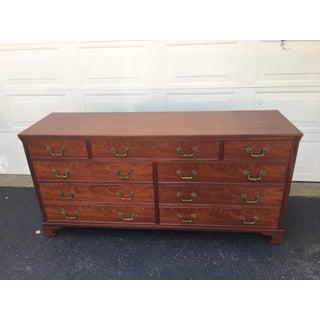 1940s Traditional Kittinger Mahogany 9-Drawer Dresser Preview