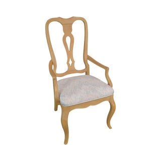 Ethan Allen French Country Maple Armchair For Sale