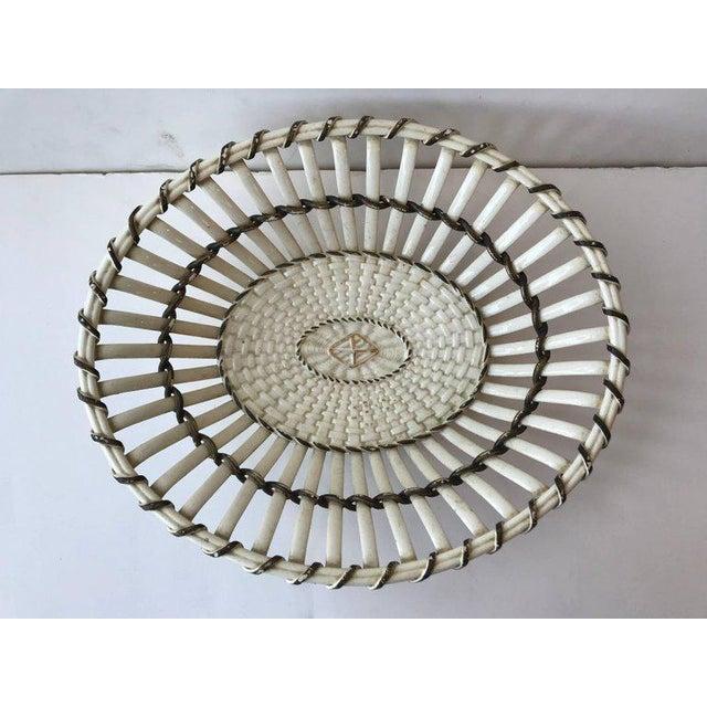 19th century Wedgewood creamware basket/bowl, England, circa 1810.
