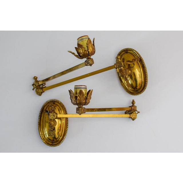 Early 20th Century Metal Wall Lamps - a Pair For Sale - Image 11 of 11