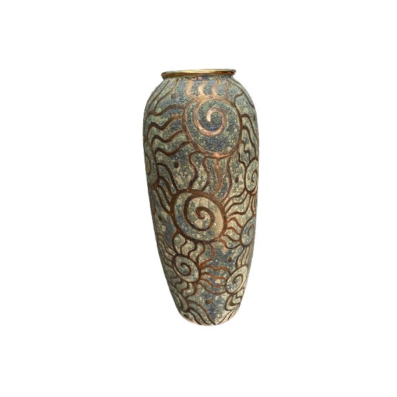 1980s Art Pottery Vase For Sale In New York - Image 6 of 6