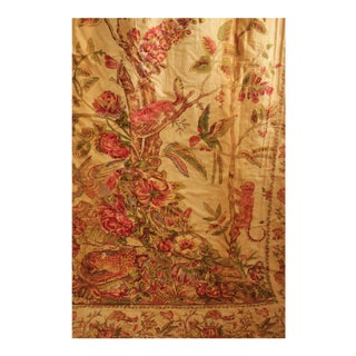 Antique Palampore Inspired Chintz Tree Of Life Curtain For Sale