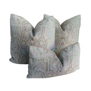 Cowtan & Tout Boa Chenille Pillows - Set of 3 For Sale