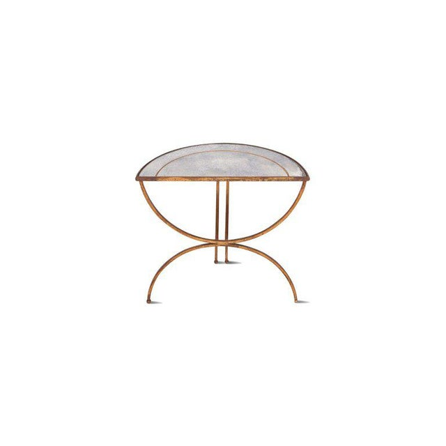 French Maison Baguès Demi-Lune Sidetables With Mirrored Glass Tops For Sale - Image 3 of 13