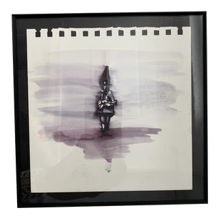 Tony Hernandez Original Watercolor Painting on Paper, Framed For Sale