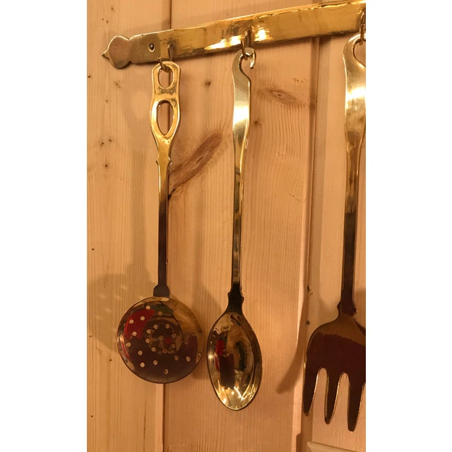 Vintage Brass Hanging Rack For Sale In Dallas - Image 6 of 11