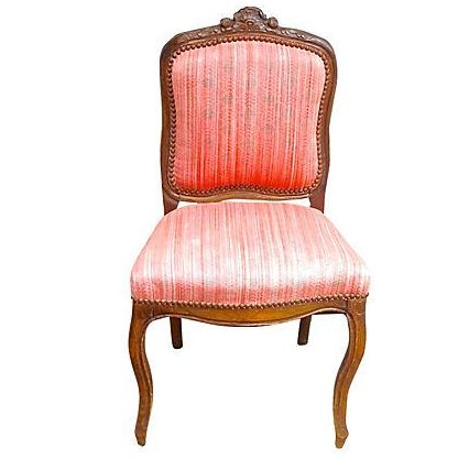 sc 1 st  Chairish & Antique Carved u0026 Red Upholstered French Side Chair | Chairish