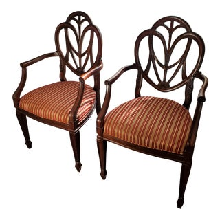 Drexel Heritage British Accents Dining Chairs - a Pair For Sale