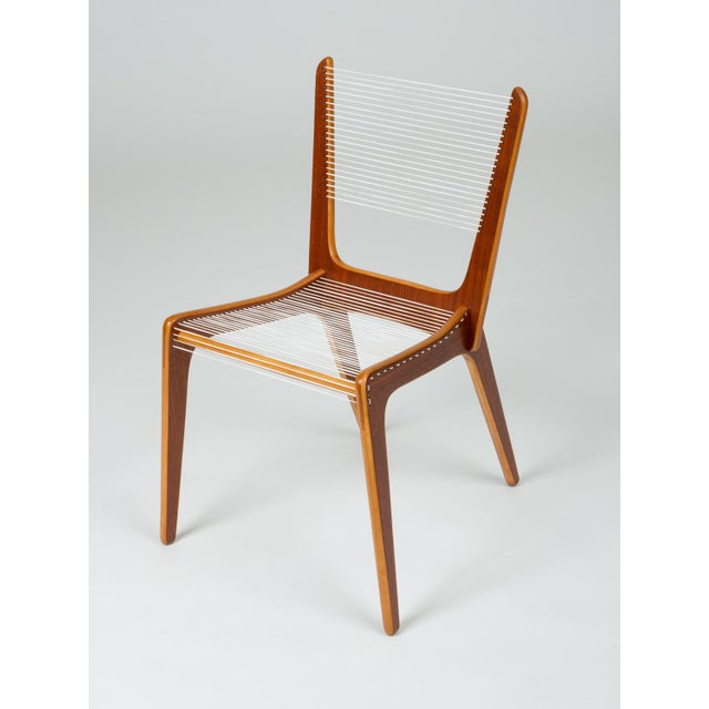 Mid-Century Modern Pair of Canadian Modernist Cord Chairs by Jacques Guillon For Sale - Image 3 of 13