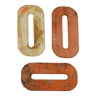 "Metal Letter ""O"" - Set of 3 For Sale"