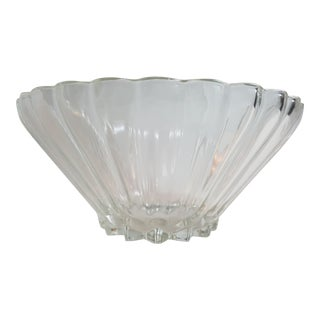 Clear Cut Glass Serving Bowl