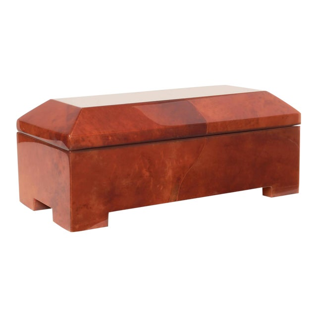 Incredible MaitlandSmith Blood Red Parchment Wrapped Casket Jewelry - Casket coffee table