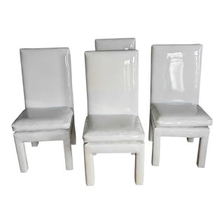 1970s Vintage Milo Baughman Parsons Dining Chairs- Set of 4 For Sale