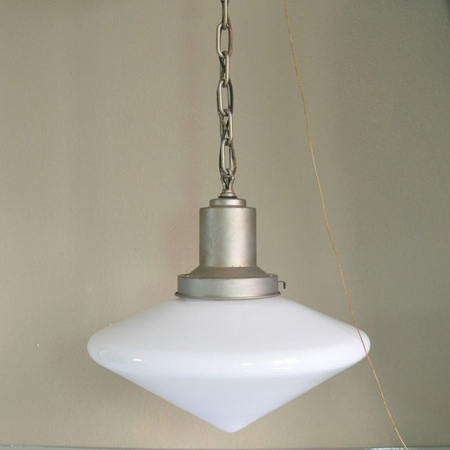 Large Conical Industrial Ceiling Fixture - Image 2 of 6