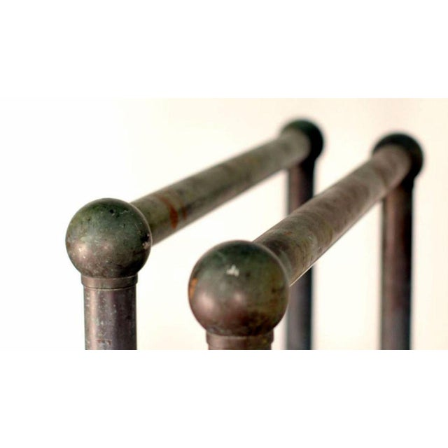 Silver Mid Century Bronze Architectural Railings - a Pair For Sale - Image 8 of 10