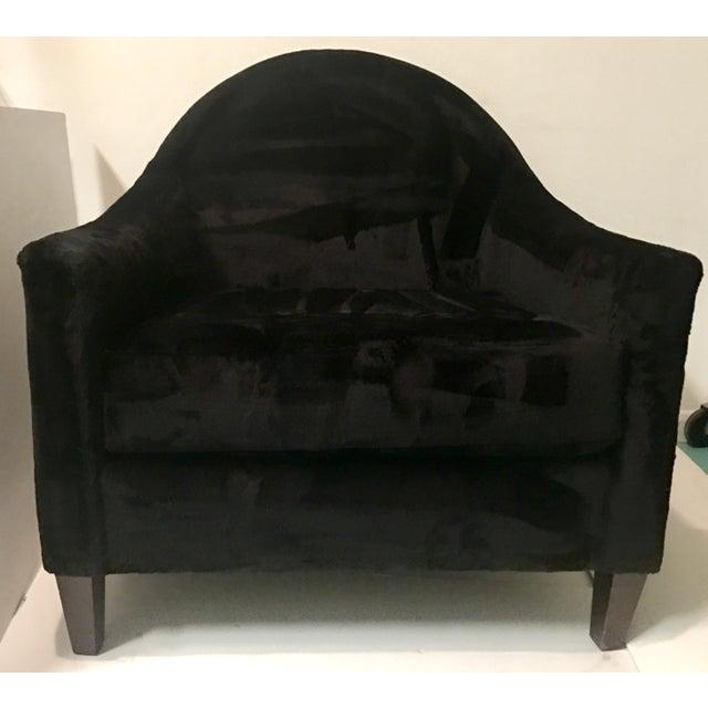 Art Deco Style Faux Mink Fur Club Chair - Image 3 of 6