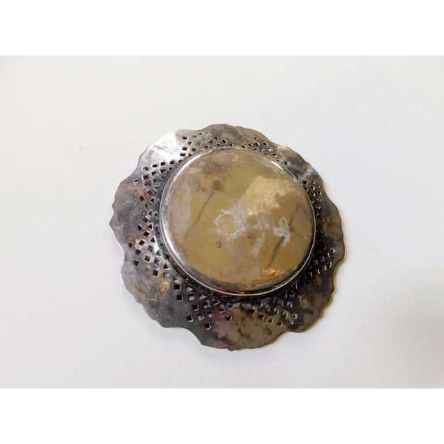 Traditional Silver Wine Bottle Coaster For Sale - Image 4 of 6