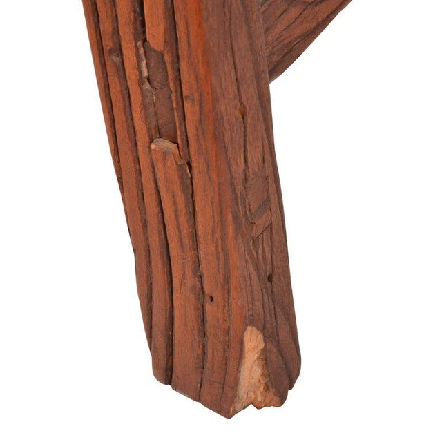 Antique Chinese Elm Primitive Bench For Sale In Los Angeles - Image 6 of 6