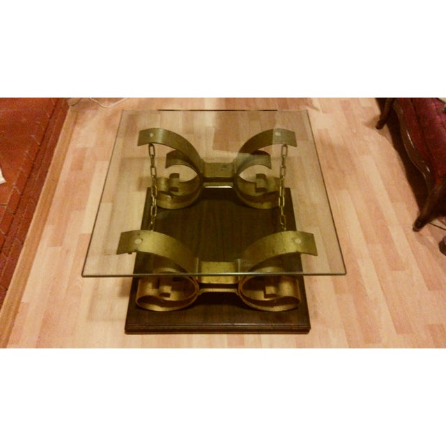 Vintage Kroehler Glass Top Coffee Table - Image 3 of 7