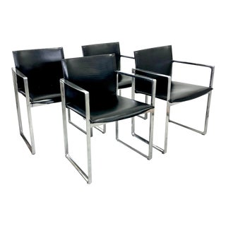 Eve Armchairs 184 by Piero Lissoni for Cassina—set of 4 For Sale