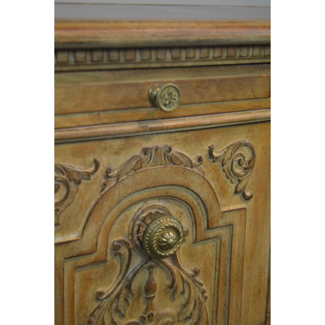 French Rococo Style Custom Quality Carved Executive Desk For Sale - Image 11 of 12