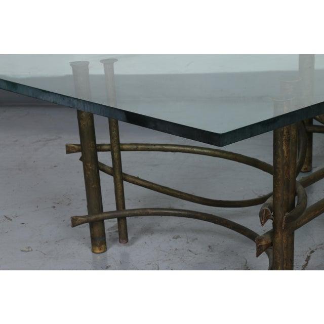 Metal Brutalist Lotus Coffee Table For Sale - Image 7 of 10
