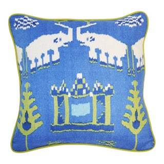 Thibaut Kingdom Parade Linen Pillow For Sale