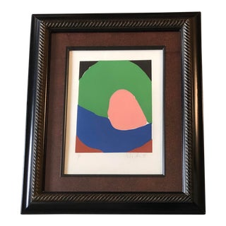 Original Vintage Robert Cooke Abstract Lithograph Mid Century 1970's For Sale