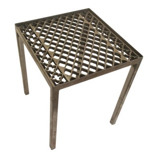 Custom Antique Steel Fragment Table For Sale
