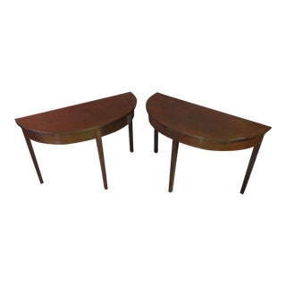 1970s Vintage Mahogany Console Tables - A Pair For Sale