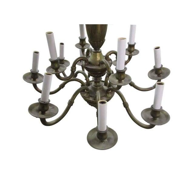 Olde Brass Chandelier For Sale - Image 5 of 8