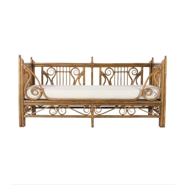 1980s 1980s Vintage Rattan/Bamboo Daybed by Ralph Lauren For Sale - Image 5 of 5