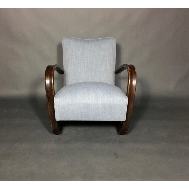 Jindřich Halabala Lounge Chair, Czech Republic, 1930s For Sale - Image 10 of 11