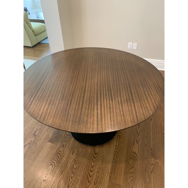 "Eero Saarinen Mid Century Modern Eero Saarinen Walnut Top Tulip Dining Table - 54"" For Sale - Image 4 of 12"