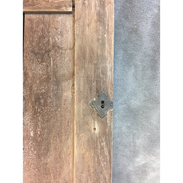 Vintage Rustic Wood Cabinet Doors - A Pair For Sale - Image 11 of 11