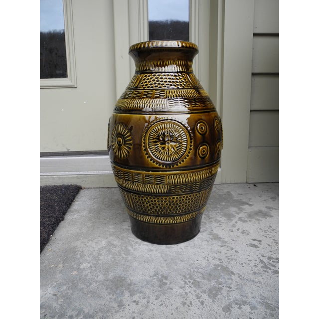 1960s 1960s Modern Large Ceramic Pottery Vessel Jar Vase From West Germany For Sale - Image 5 of 10