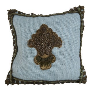 Blue Metallic Embroidered Lavender Sachet For Sale