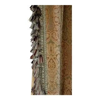 Tuscan Velvet Lined 10 Feet Tall Curtain Panel Set For Sale
