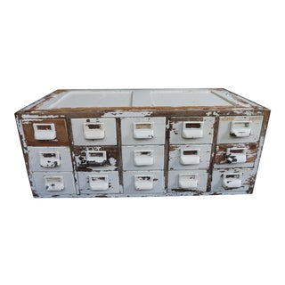 Vintage Globe Wernicke 15 Drawer Wood Library Card Catalog Cabinet For Sale