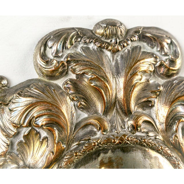 Spanish Silver Shield Triple Candelabra Sconces, Pair (3 Pairs Available) For Sale - Image 12 of 13