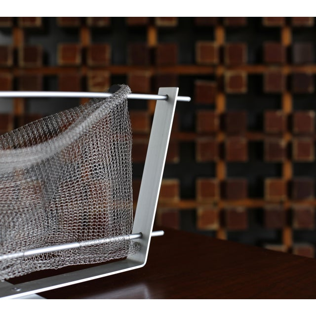 W. Chester Old Aluminum Basket Circa 1989 For Sale In Los Angeles - Image 6 of 9
