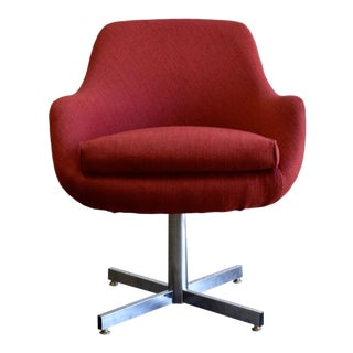 Mid Century Modern Viko Baumritter Swivel Side Chair For Sale