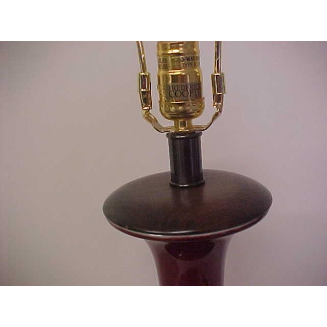Ceramic Frederick Cooper Oxblood Lamp For Sale - Image 7 of 8
