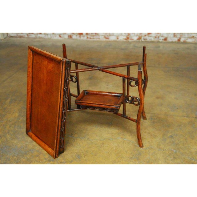 Chinese Qing Rosewood Folding Tray Table - Image 7 of 10